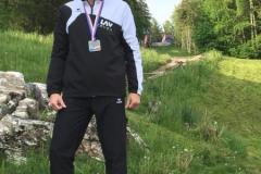 Marcel Frank mit seiner Silbermedalie