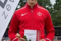 Der Leverkusener Tim Eikermann gewann dier Hürdenkonkurrenz