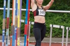 Mit persönlicher Bestleistung zum Sieg im Speerwerfen der Frauen: Folke Wolch aus Bordesholm
