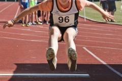Solja Brandt war auch im Weitsprung der Kinder W10 am Start und belegte dort Platz 26 von 76 gemeldeten Aktiven.
