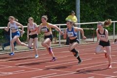 Lena Behrens (LAV Zeven, Nr. 532) trat am Sonntag auch über die 100m der weiblichen Jugend U18 an.