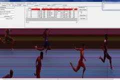 Das Ziel des beeindruckenden 100m Finallaufs der Männer. Foto: LAV Zeven