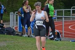 Silvia Huch von der LAV Zeven trat im Speerwurf, Diskuswurf und Kugelstoß an.