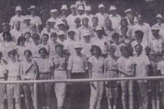 Der notwendige Kampfrichterstab für die Landesmeisterschaften Jugend B in Zeven 13./14. Juli 1985