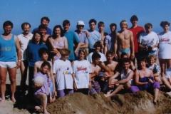 Die Trainingsgruppe in Igea Marina, Italien 1990
