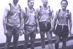 Senioren M50 4x100m DM II in Halle v.l.n.r.: Claus Restle, H.H.Neblung, Heiko Edler, Hans Himmel