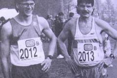Udo Stephan und Kurt Janitzki nach dem Marathonlauf