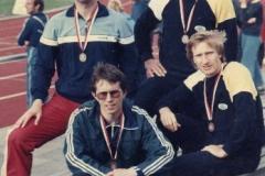 DM-Sen. 1984 3.Platz 4x100m M30 (Umann,Cordes, Wolf und Neblung)