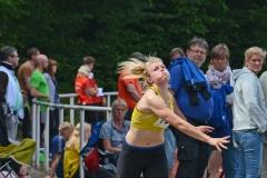 zi03: Paula de Boer (LG Flensburg) stellte mit 14,09 m im Kugelstoßen mit der 3 kg-Kugel einen neuen Pfingstsportfestrekord bei der weiblichen Jugend U18 auf.