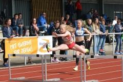 Im 100m-Hürden-Lauf der WJ U18 gewann Wencke Griephan (LAV Ribnitz-Damgarten/Sanitz) in 14,38 sec.