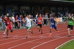 Fabian Netzlaff (Nr. 85, SV Werder Bremen) siegte im 100m-Lauf der Männer in 10,61 sec.