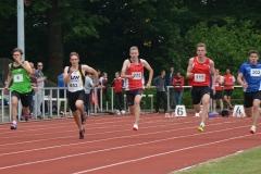 100m der MJ U20 mit Janik Dohrmann von der LAV Zeven (Nr. 653).