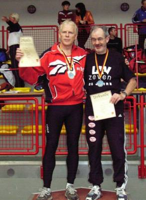 60m M55 Sieger Franz Koch und Helmut Meier