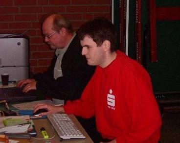 Wettkampfbüro mit Sebastian Stabel