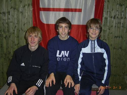 Die A-Schülermannschaft BM 2007 : Helge Zabel, Justin Schröter, Fabio Gerken