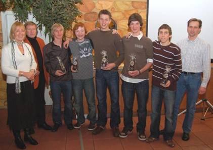 Höhepunkt des Abends war aber die Ehrung der Mannschaft der Schüler A mit Jonas Harder, Ole Harms, Dion Saß, Justin Schröter und Helge Zabel