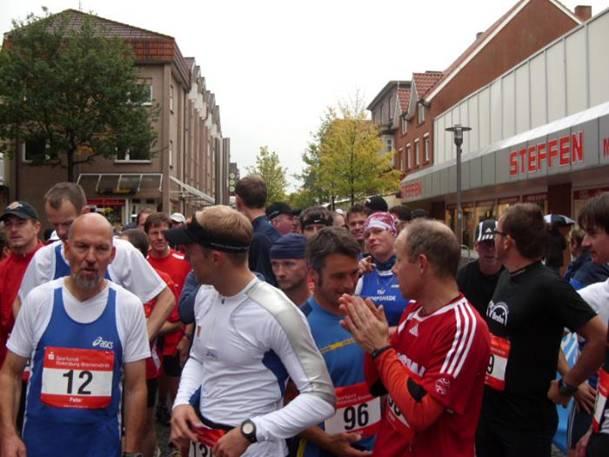 Vor dem Start des Halbmarathons
