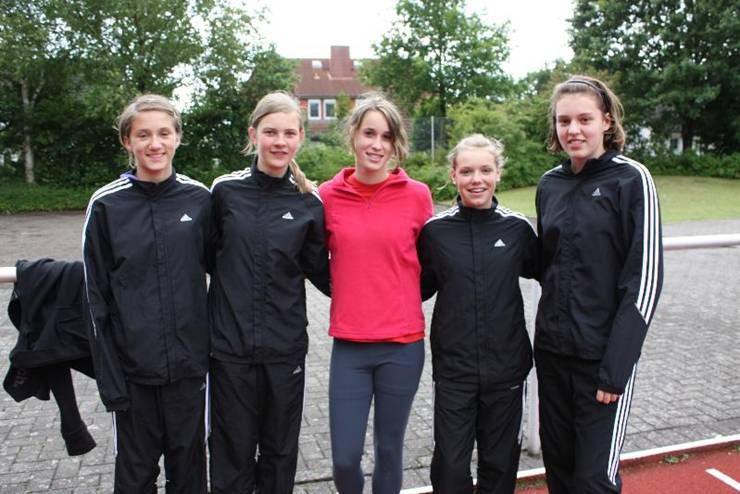 v.l.n.r.:Sarina Holsten Milena Peper, Chantal Raas, Lara Gerken und Magdalena Swensson