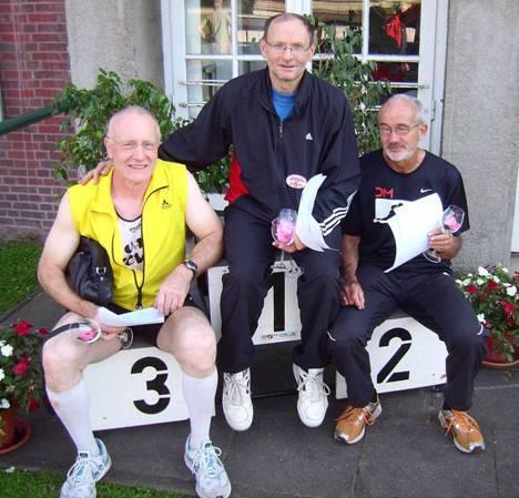 Friedrich Müller, Joachim Hickisch und Helmut Meier, Landesmeister mit der Mannschaft M 50/55 im Fünfkampf