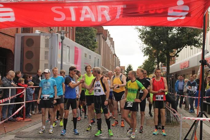 Startaufstellung zum Halbmarathon