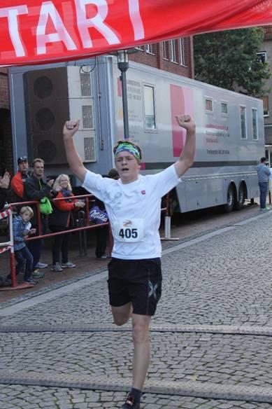 Sieger der Schülerklassen 5km Keno Frenz, U16 TuS Rotenburg
