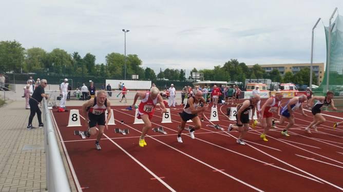 Start 100m Finale 100m M65