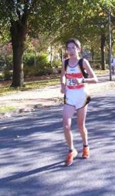 Tim Kosmata beim Halbmarathon