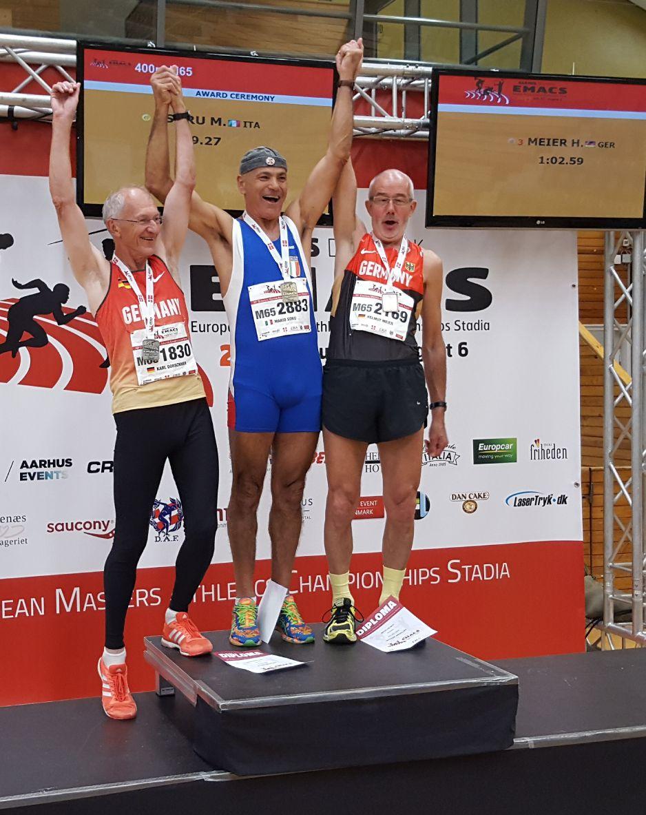 Bronze in 62.59 sec hinter Mario Suru Italien und Karl Dorschner Deutschland