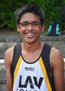 zi07: Safin Arshad kam in seiner Altersklasse M15 auf den zweiten Platz über 100m und über die 300m-Distanz auf den fünften Rang.