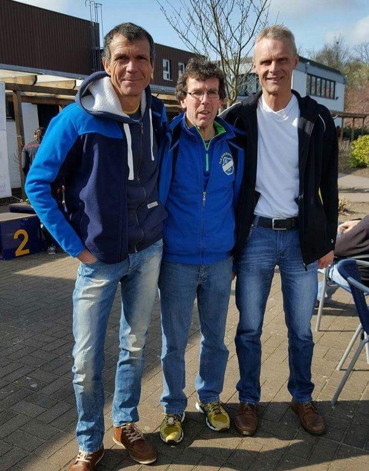 Heino Fienen, Carsten Ahlfeld und Marco Miltzlaff beim Betriebssportfest in Hamburg