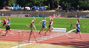 Finale 100m mit Czeslaw Pradzynski auf dem zweiten Platz. (Foto Rita Meier)