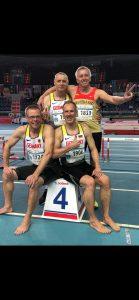 Leider lief die deutsche 4x200m-Staffel mit Czeslaw Pradzynski (3.v.li.) trotz starker Leistung mit Platz 4 knapp an Bronze vorbei.