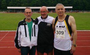 Sie sicherten sich in Celle Titel und gute Platzierungen: Detlef Wickmann, Helmut Meier und Czeslaw Pradzynski (v.li.)