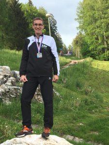 Marcel Frank - hier bei der Berglauf-EM 2019 - siegte bei den Landesmeisterschaften Halbmarathon