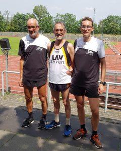 Die erfolgreichen LAV-Senioren Helmut Meier, Detlef Wickmann und Marcel Frank (v.li.).