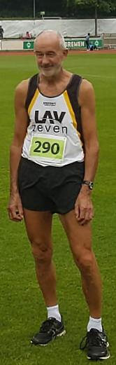 Helmut Meier trat am Wochenende beim Sprintmeeting in Bremen über die 100m und 200m an