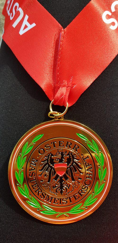 Eine schöne Medaille. (Foto: Rita Meier)