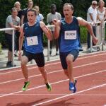 Als Duo ins Ziel: Marcel Böttger (li.) mit seinem Guide Alexander Kosenkow, mit dem er bei den Sprints durch ein Band verbunden war.