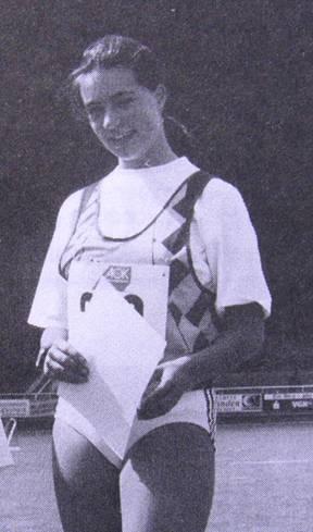 Maja Damjanovic Landesmeisterin Schülerinnen im Diskuswurf 1992