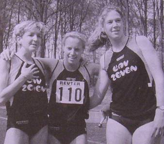 Das Läufertrio: Claudia Schmidt, Birte Bultmann , Birte Meyer