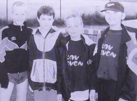 v.l.n.r.: Roland Kielema, Julian Kiwitt, Robin Willert und Hannes Maxin
